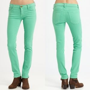 Current/Elliott Winter Green The Ankle Skinny Jean